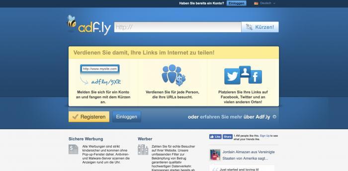 Adfly Screenshot