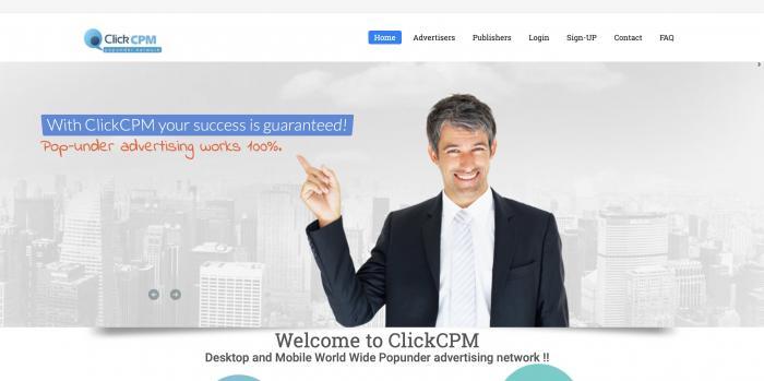 ClickCPM Screenshot