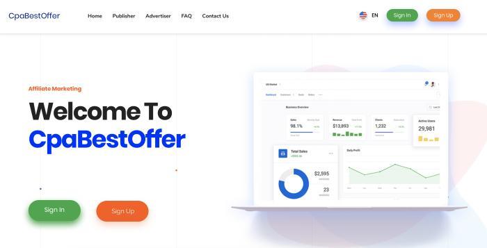 CpaBestOffer Screenshot