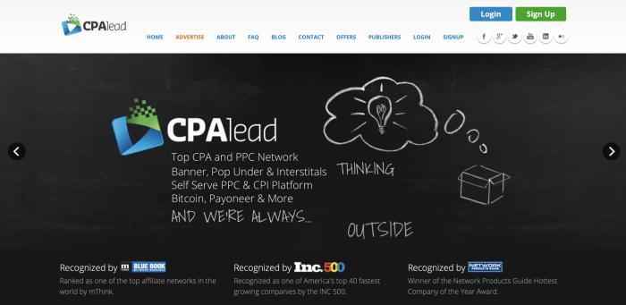 CPALead Screenshot