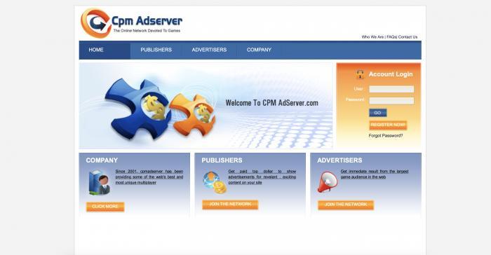 CPM Adserver Screenshot